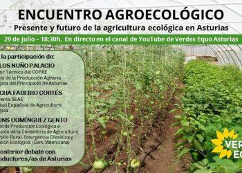 Verdes Equo organiza el jueves un encuentro sobre los retos y oportunidades de la agricultura ecológica en Asturias
