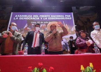 Convocan paro en Perú para exigir proclamación de Castillo