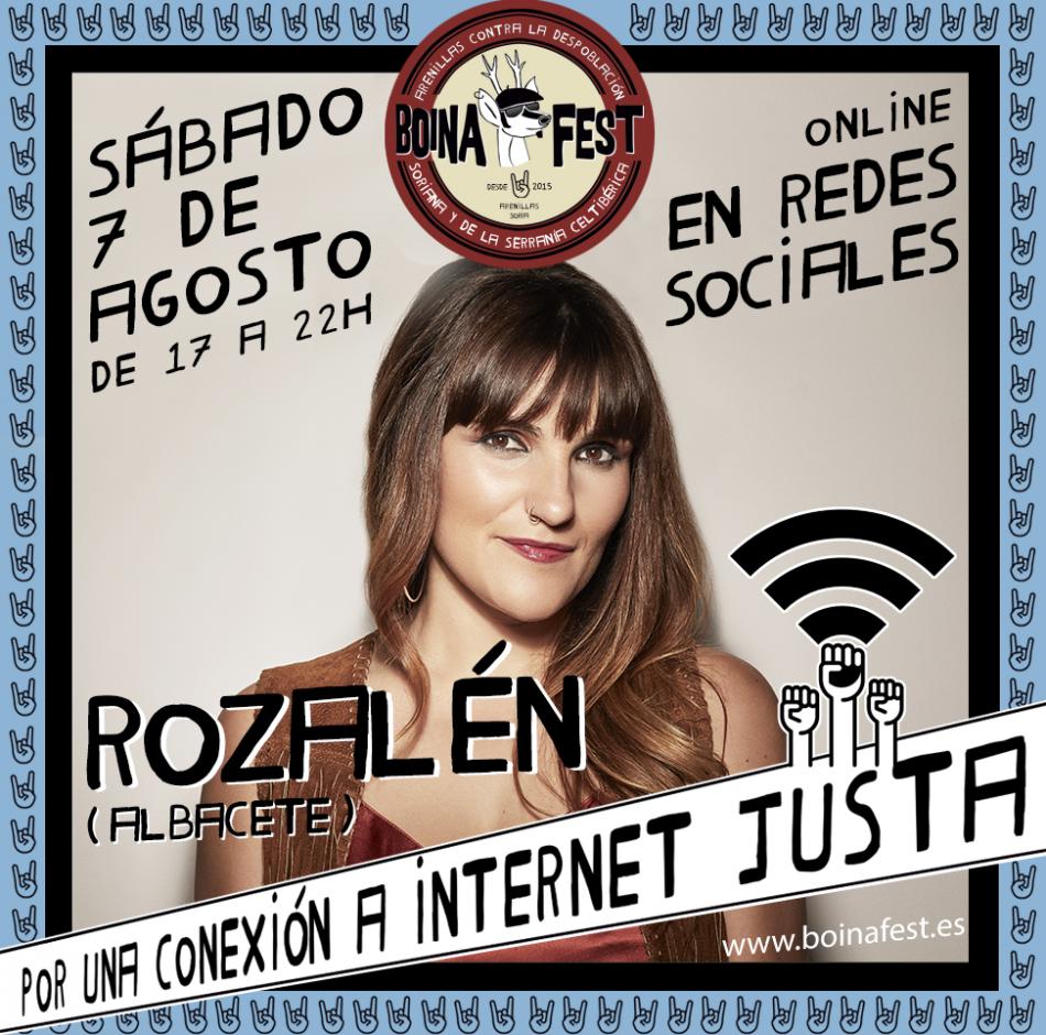 Este sábado se celebra el Boina Fest con Rozalén al frente de la lucha contra la despoblación y por una conexión a Internet justa
