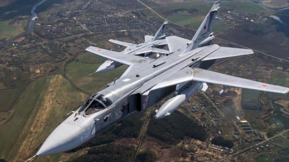 Su-24 ruso lanzó bombas cerca del destructor de OTAN