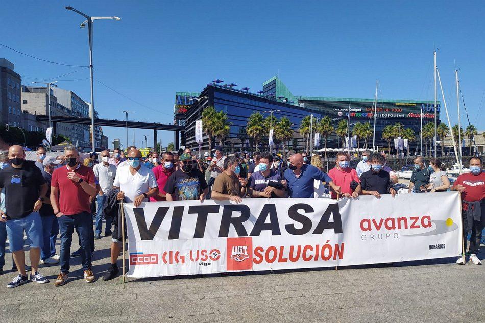 O persoal de Vitrasa concentrouse no Marisquiño coincidindo coas xornadas de folga da fin de semana