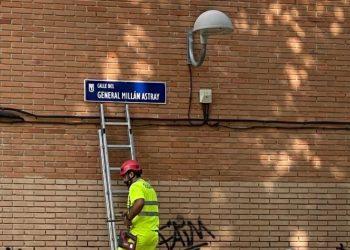 Vuelven a colocar a Millán Astray en el callejero madrileño tras votar PP, Ciudadanos y Vox contra una propuesta que reclamaba el cambio de nombre