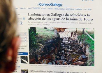 Lluvia de críticas a la manipulación informativa de El Correo Gallego a favor de la mina de Touro