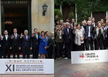 ¿Por qué el Grupo de Lima fue de más a menos y el Grupo de Puebla de menos a más?