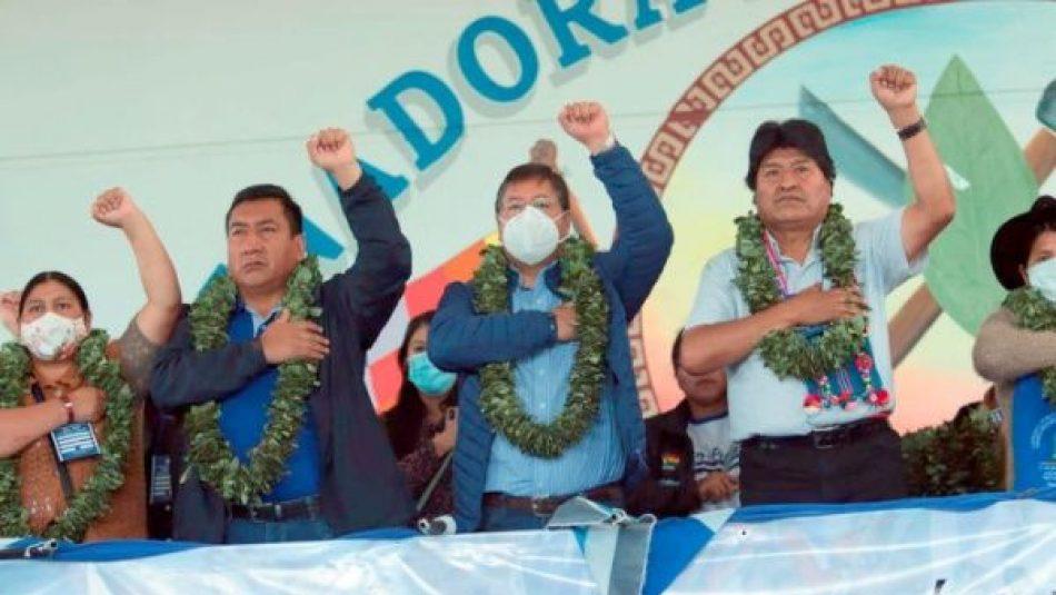 El expresidente pidió a los militantes del MAS-IPSP a conformar un bloque para hacer frente a las «amenazas» de EE.UU.