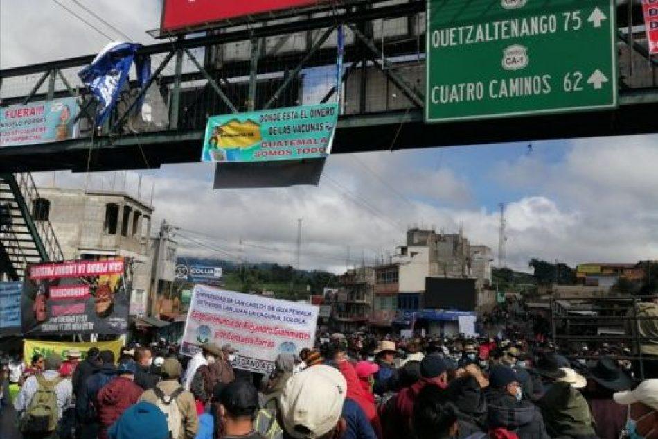 Movimientos sociales convocan a nuevas protestas en Guatemala