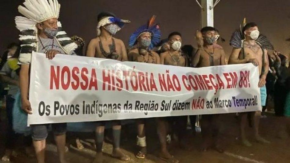 Indígenas montan campamento de protesta en Brasilia