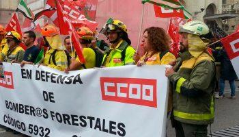 CCOO, UGT y CSIF solicitan a la comisión del Congreso la agilización del Estatuto del Bombero/a Forestal