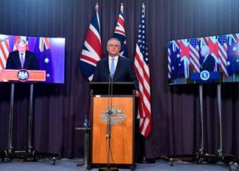 China condena el pacto militar naval entre Estados Unidos, Reino Unido y Australia