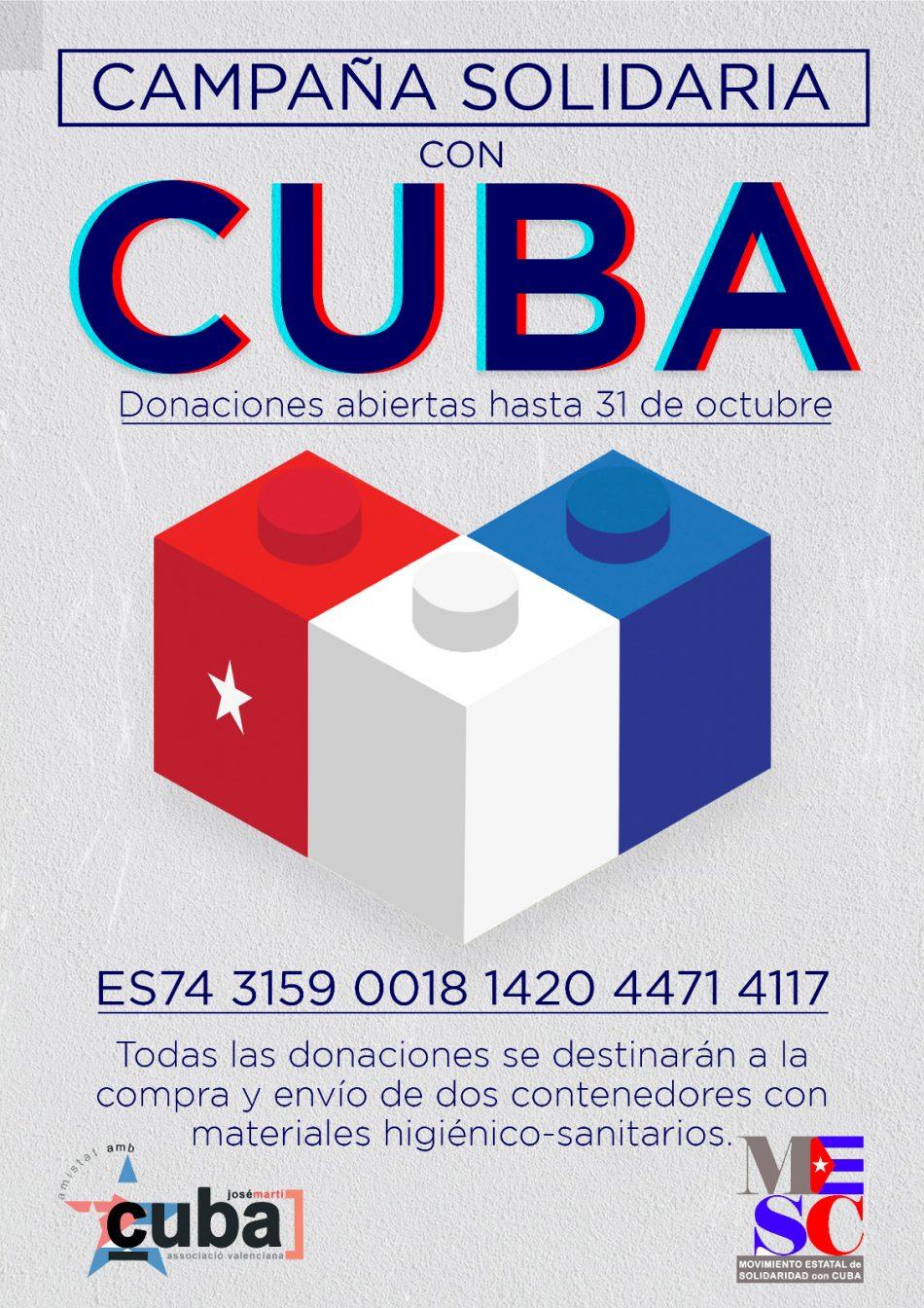 Lanzan una campaña solidaria para enviar dos contendores con material sanitario a Cuba desde Valencia