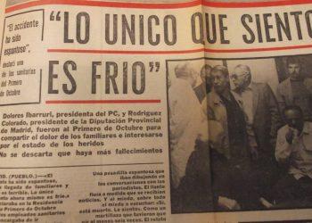 """EL PCE homenajeará en la Fiesta de su Centenario a las 50 víctimas murcianas del """"Accidente de Quintanar"""""""