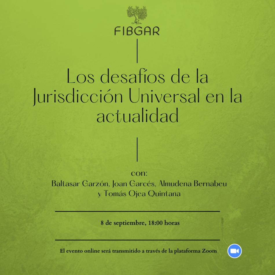 8 de septiembre. Seminario Internacional «Los desafíos de la Jurisdicción Universal en la actualidad»