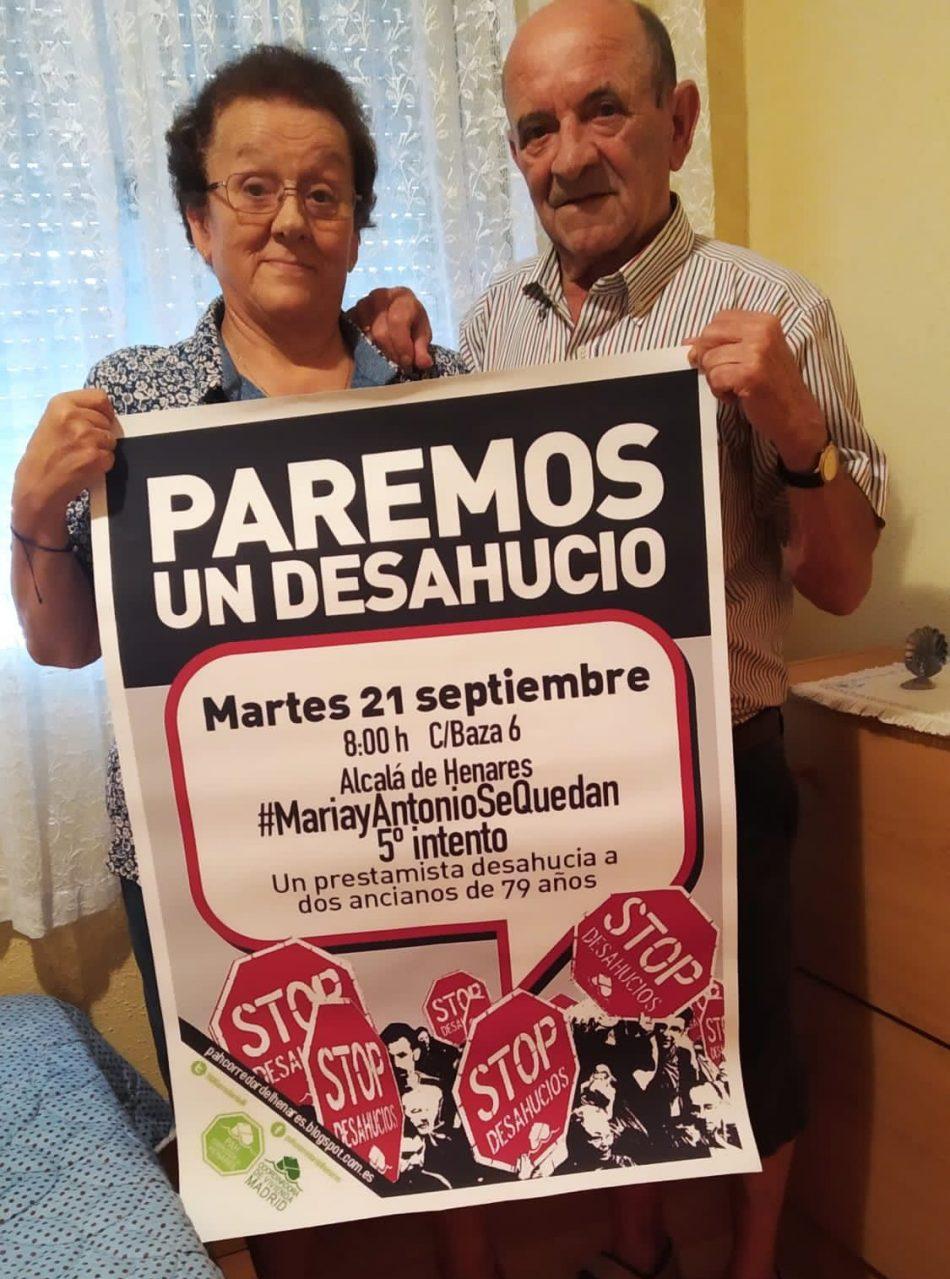 Un matrimonio de 79 años puede perder su casa en Alcalá de Henares por avalar a su hijo