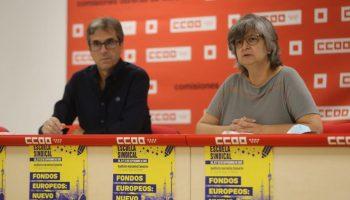 La secretaria general de CCOO Madrid, Paloma López, carga contra las políticas del gobierno de Ayuso