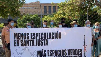 Colectivos sociales advierten del oscurantismo y de la falta de transparencia en el proceso de reforma del entorno de Santa Justa