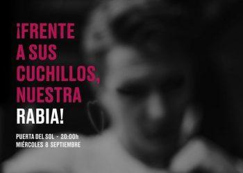 ¡Frente a sus cuchillos, nuestra rabia!   Concentración en Madrid por la agresión homófoba a un joven al que grabaron en el glúteo «maricón» con un cuchillo