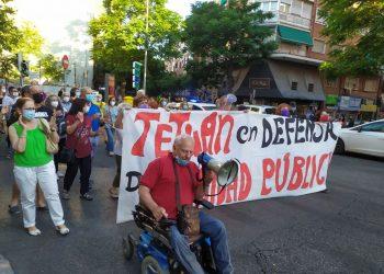 Nueva marcha vecinal en el distrito madrileño de Tetuán para reclamar la reapertura del Centro de Salud de Villaamil