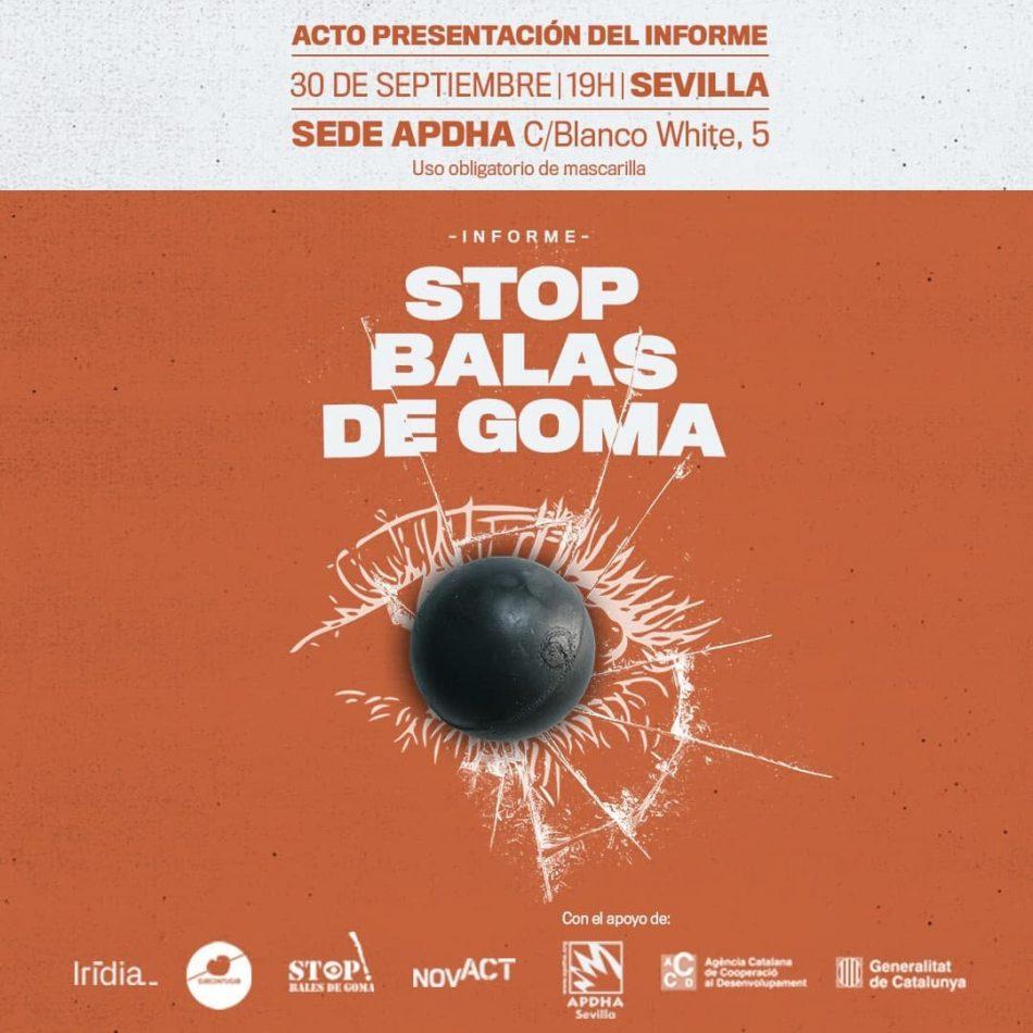 """Presentación del informe """"Stop balas de goma"""""""