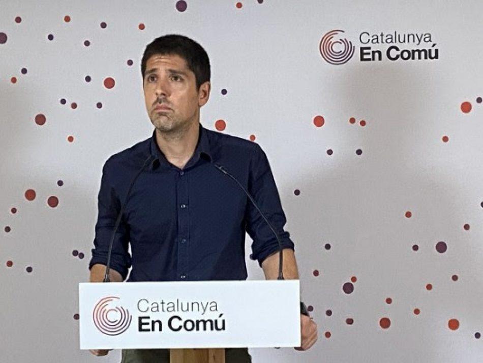 """David Cid, En Comú Podem: """"Cal que el president comparegui al Parlament en un ple monogràfic"""""""