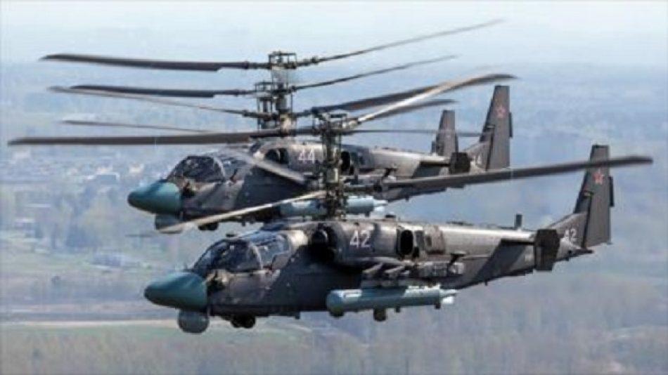 Helicópteros de Rusia y EEUU entran en combate en Siria