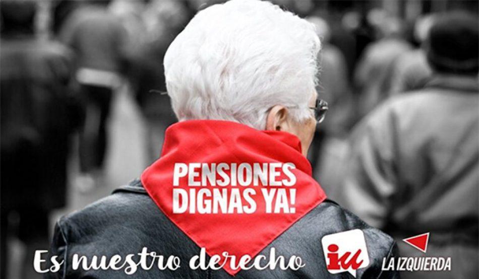 Total respaldo de Izquierda Unida a la movilización del 16 de octubre para defender y mejorar el sistema público de pensiones