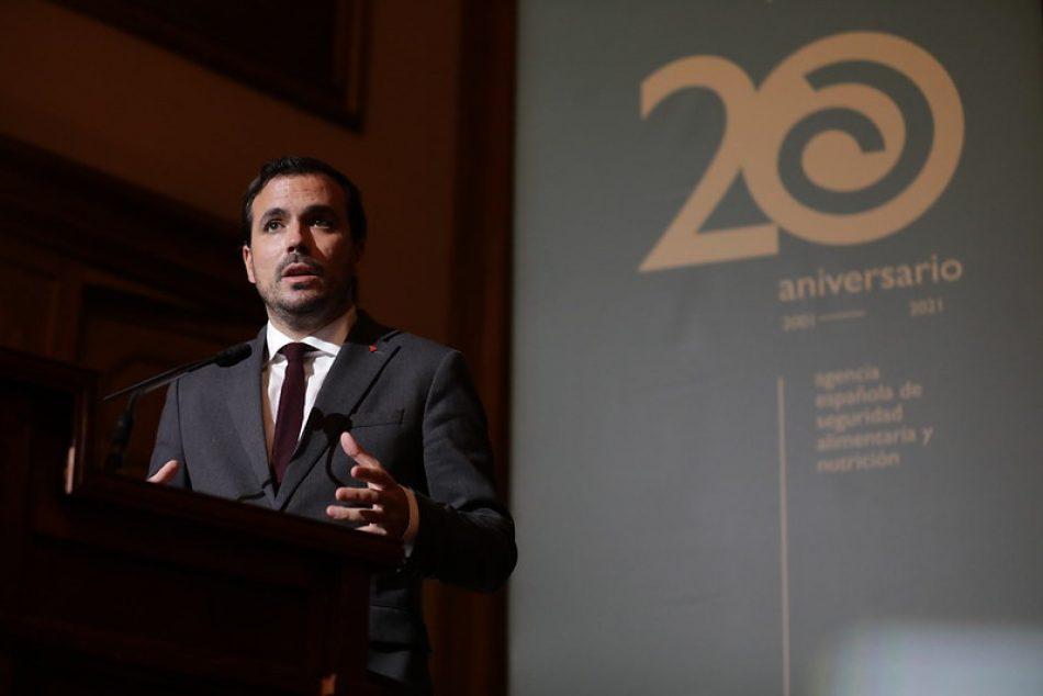 Garzón anuncia la puesta en marcha de la Estrategia Nacional de Seguridad Alimentaria y Nutrición