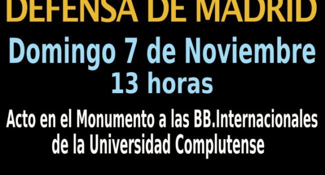 Homenaje a la Defensa de Madrid