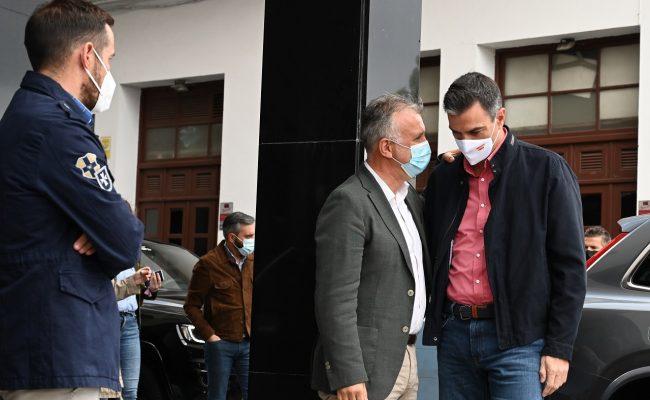 Pedro Sánchez anuncia una modificación del Fondo de Contingencia para acelerar la llegada de las ayudas aprobadas a La Palma