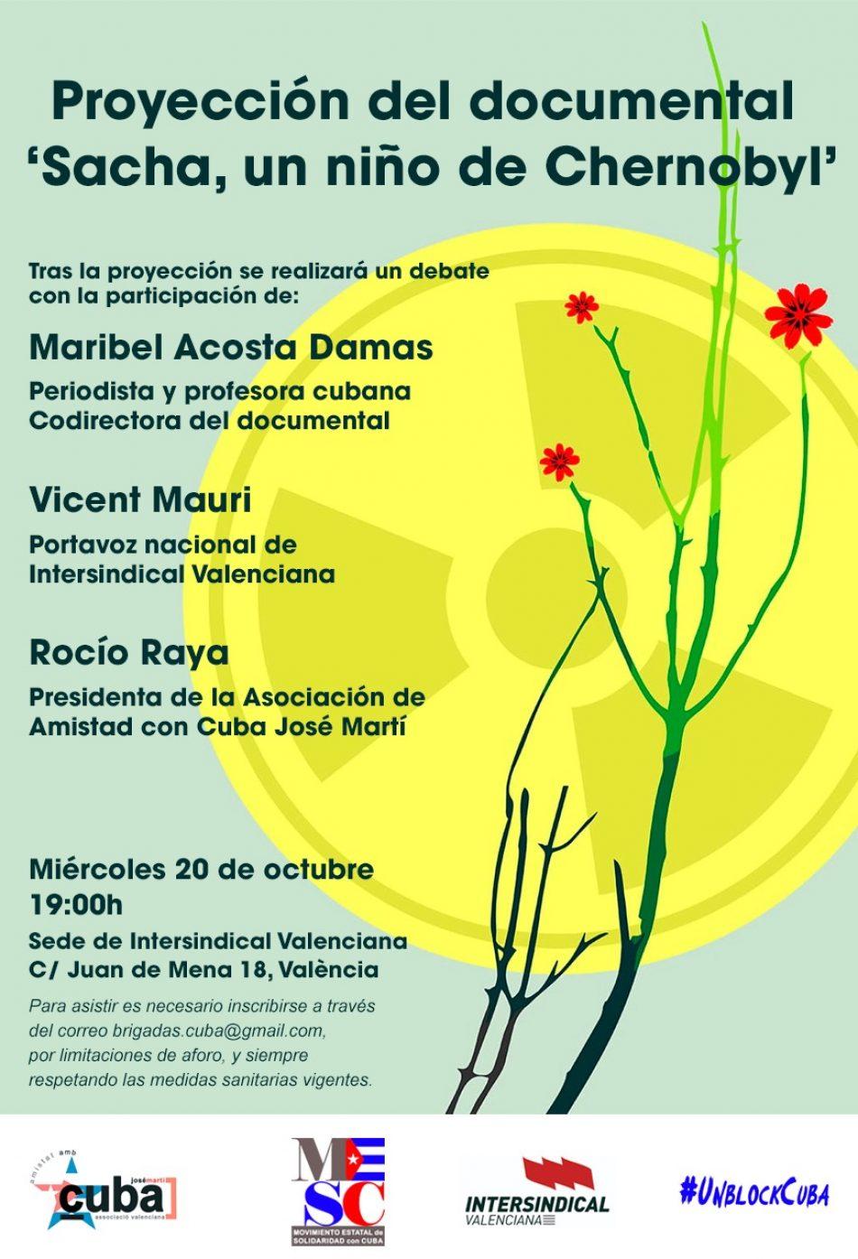 Maribel Acosta Damas presentará en València su último documental «Sacha, un niño de Chernobyl»