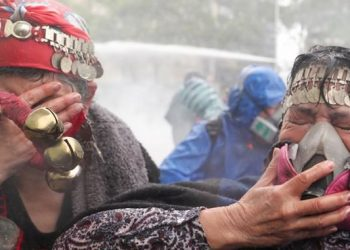 Una mujer muere a manos de los carabineros en una marcha indígena en Chile