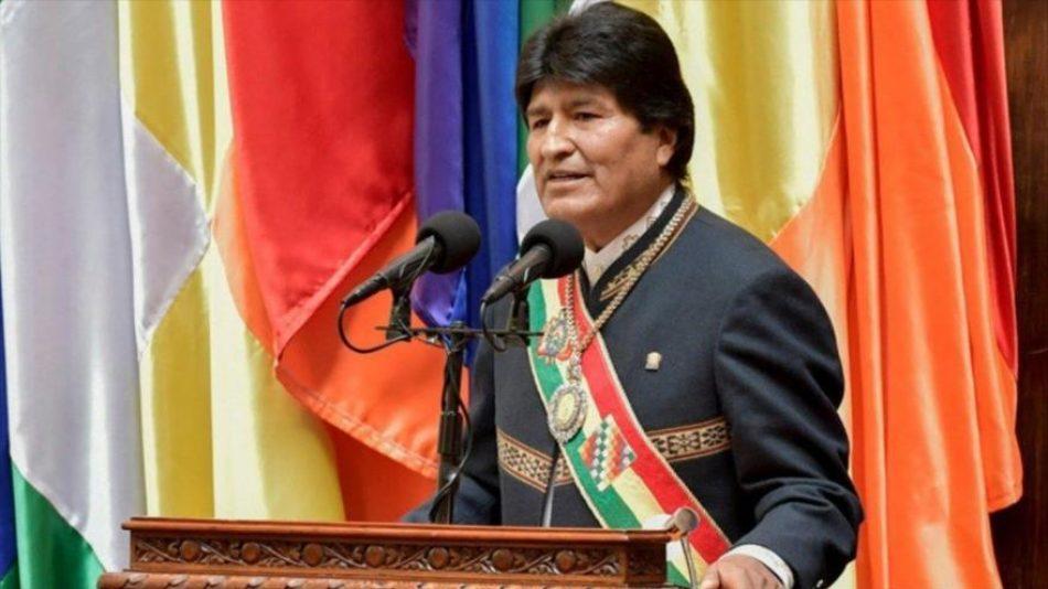 Evo Morales: «La Unión Europea (UE) miente para atacar al Gobierno democrático del hermano presidente Luis Arce»