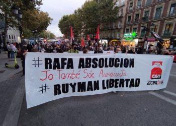 Valoración de la manifestación del 16 de octubre: «¡Abajo las leyes represivas! ¡Amnistía Total!»
