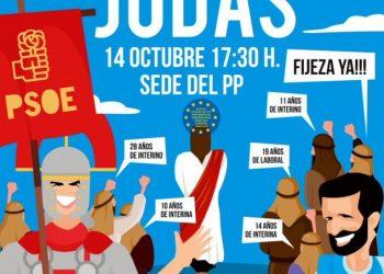 CAEPAT convoca concentraciones frente a las sedes del PP en varias capitales de provincia de Andalucía bajo el lema «Judas»