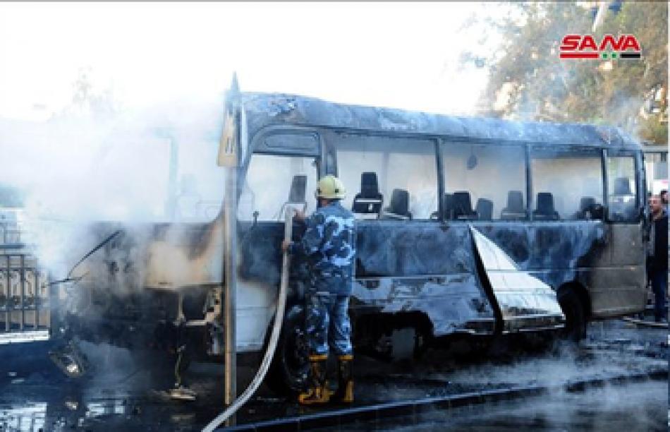 Atacan un autobús del Ejército sirio en Damasco, hay 14 muertos