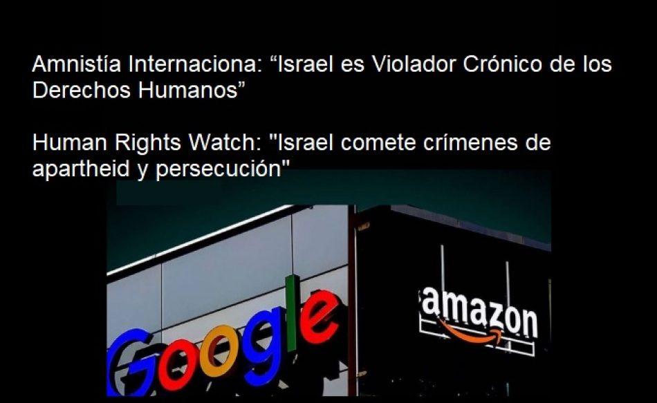 Trabajadores de Amazon y Google piden a sus empresas que cancelen contratos con Israel que ayudan a la 'discriminación sistemática' y el 'desplazamiento' de los palestinos