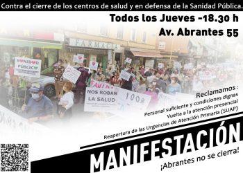 Manifestación desde el Centro de Salud Abrantes (Madrid): 14-O