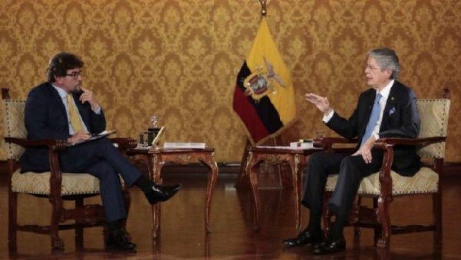 Pdte. Guillermo Lasso acepta que parte de su patrimonio está afuera de Ecuador