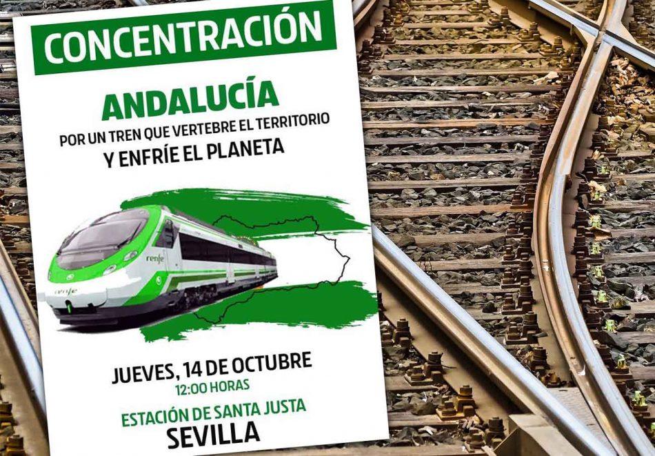 FACUA Andalucía se suma a la concentración en defensa de un tren público, universal y de calidad