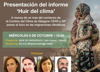 """CEAR y Greenpeace presentan el informe """"Huir del clima"""""""