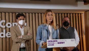 """Albiach: """"Reclamem al president Aragonès que es deixi de rescatar projectes enterrats com el de l'aeroport, i presenti ja el Pla de la Generalitat lligat a aquest traspàs"""""""